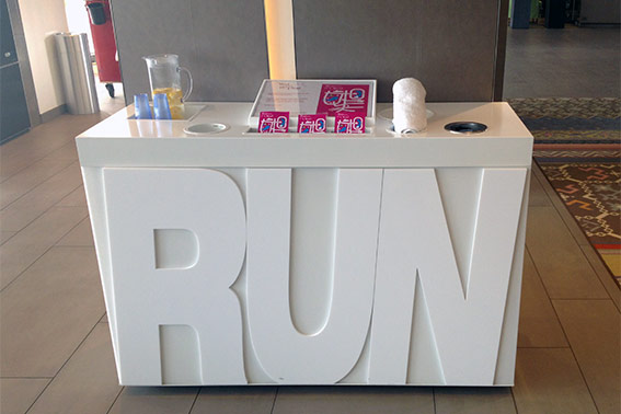 Running station at Crowne Plaza Antwerp